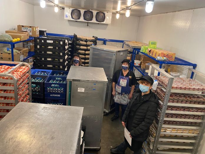 Washougal School District food service Glenda Huddleston, Linda Manire, and Molly Krabbenhoft
