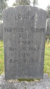 Louisa Van Vleet Wright clark county history gravestone