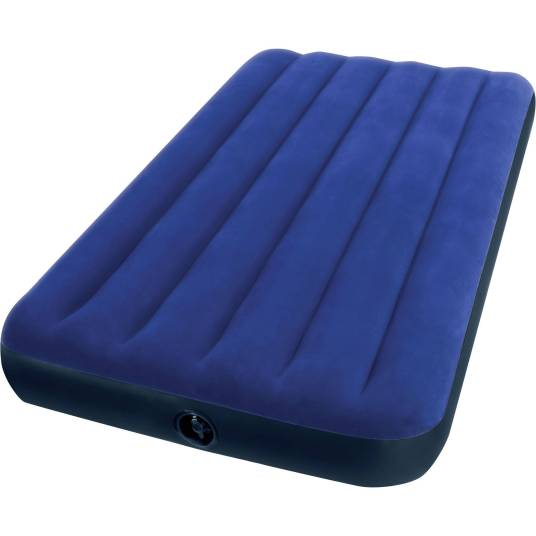 Intex twin 8.75″ Classic Downy inflatable airbed mattress for $8, queen for $15