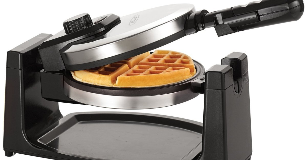 Bella stainless steel rotary waffle maker for $9 after rebate