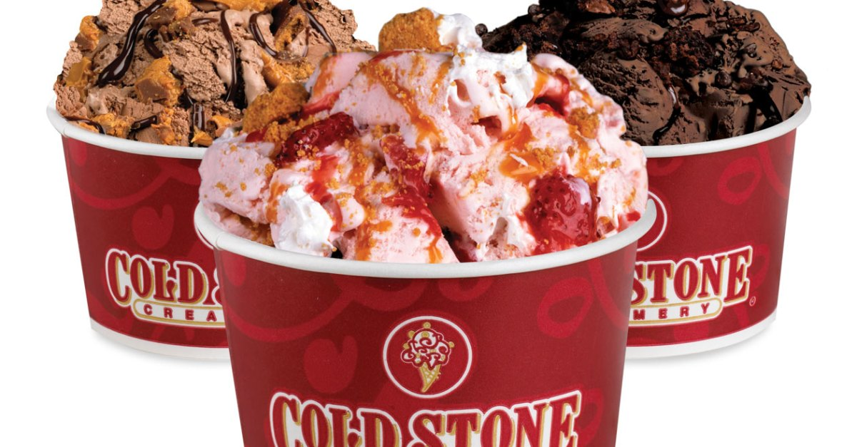 Buy one, get one free ice cream at Cold Stone Creamery