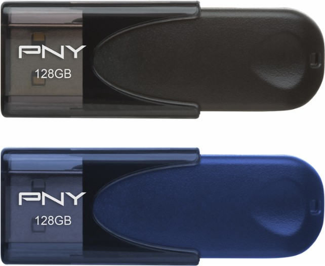 PNY 128GB USB flash drive 2-pack for $43 shipped