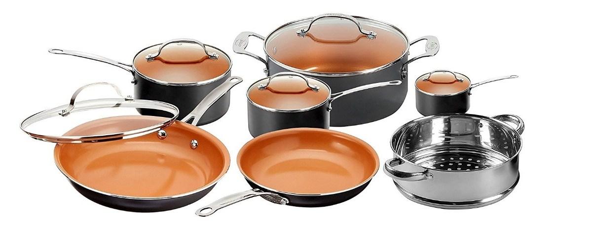Gotham Steel 10-piece nonstick cookware set for $98