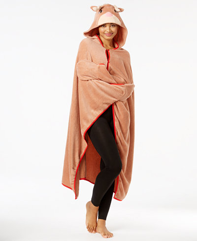 Animal hooded lounge poncho for $4 at Macy's