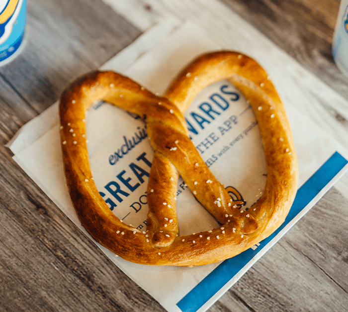 Buy one, get one free pretzels at Auntie Anne's