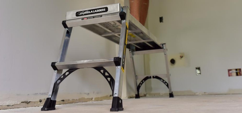 Gorilla Ladders aluminum slim-fold work platform ladder for $30