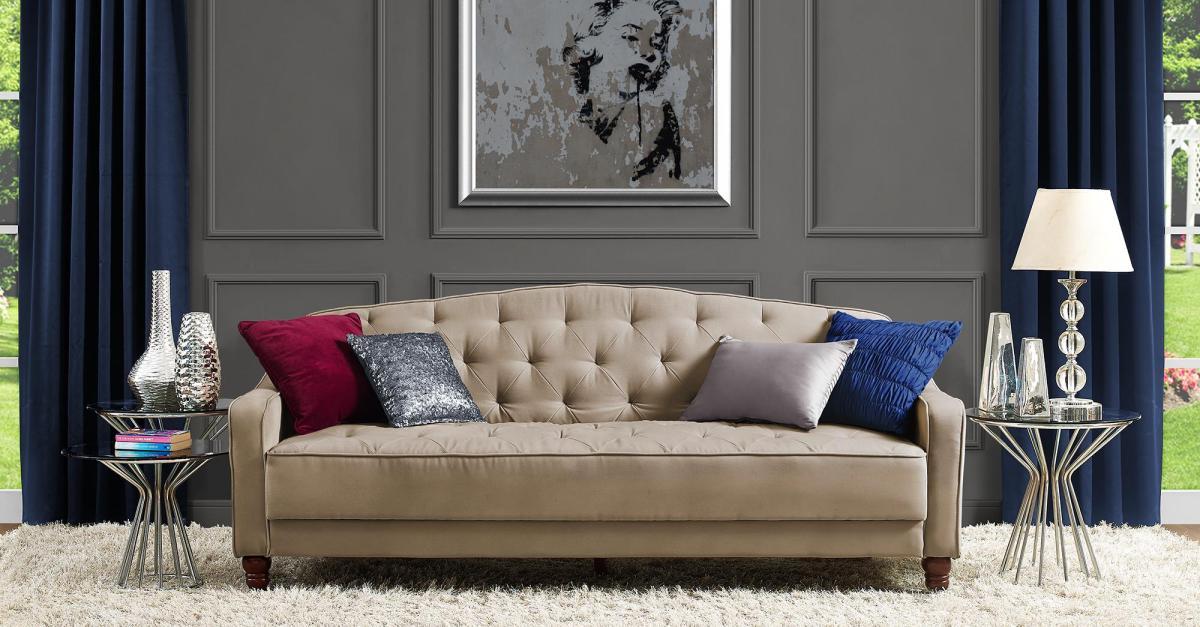 Remarkable Novogratz Vintage Tufted Sofa Sleeper Ii For 229 Clark Deals Andrewgaddart Wooden Chair Designs For Living Room Andrewgaddartcom