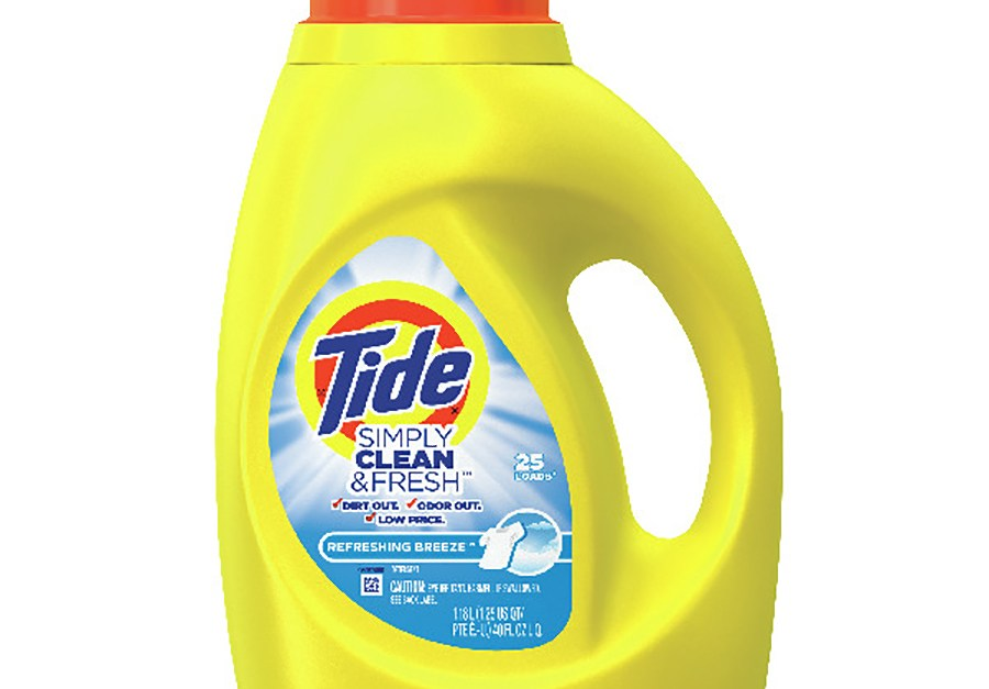 Tide 40-oz Simply Clean & Fresh liquid laundry detergent for $2