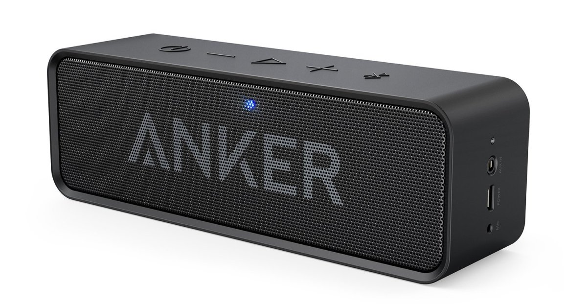 Anker SoundCore Bluetooth speaker with built-in mic for $26