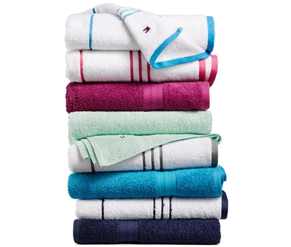 Tommy Hilfiger All American II cotton bath towels for $5