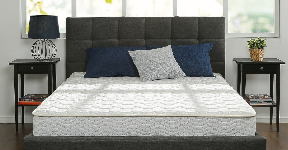 Zinus 8″ memory foam and spring king mattress for $170, queen for $110