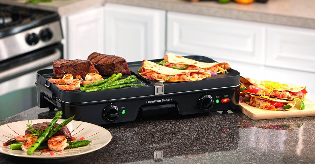 Hamilton Beach 3-in-1 griddle for $40, free shipping