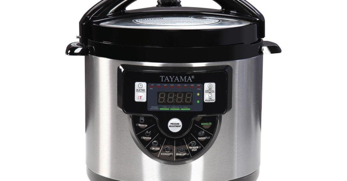Price drop! Tayama 6-quart 8-in-1 multi-function pressure cooker for $35