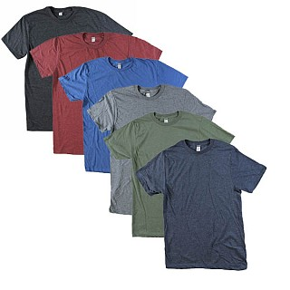 6-pack of XL and XXL assorted ultra soft heathered cotton blend t-shirts for $20 shipped