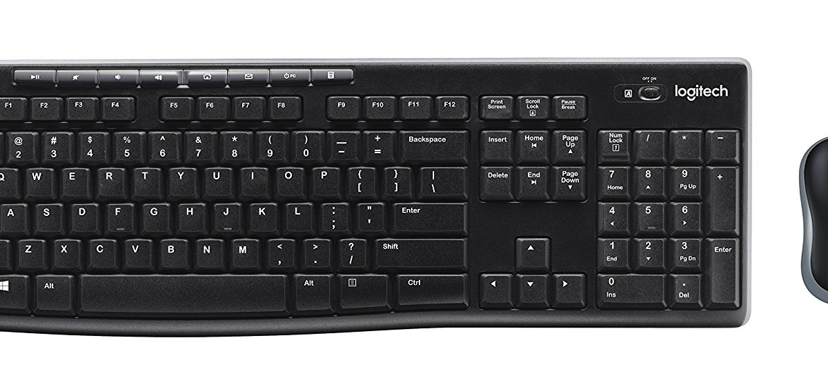 Logitech MK270 wireless keyboard and mouse combo for $13