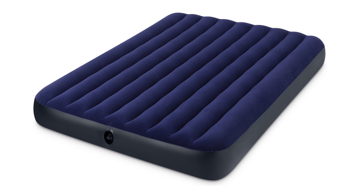 Intex queen 8.75″ classic downy inflatable airbed mattress for $9
