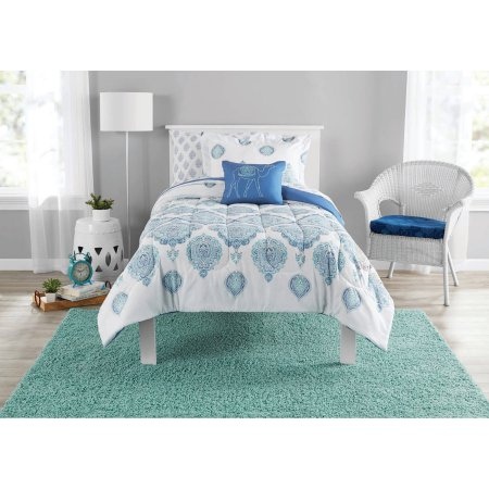 Mainstays Bed-In-A-Bag Arabesque bedding set for $15