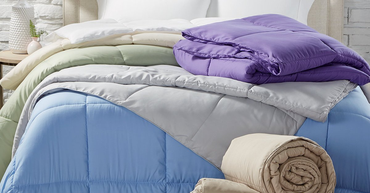 Today only: Any-size Royal Luxe lightweight microfiber down alternative comforter for $20