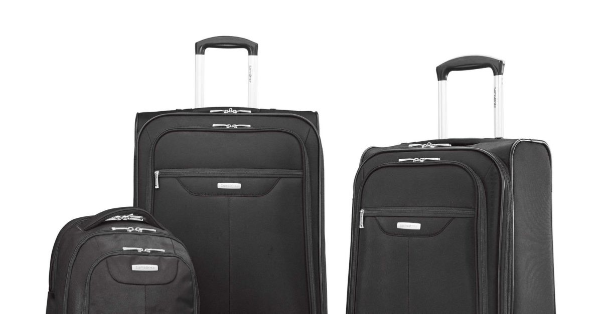 Samsonite Tenacity 3-piece luggage set for $90, free shipping