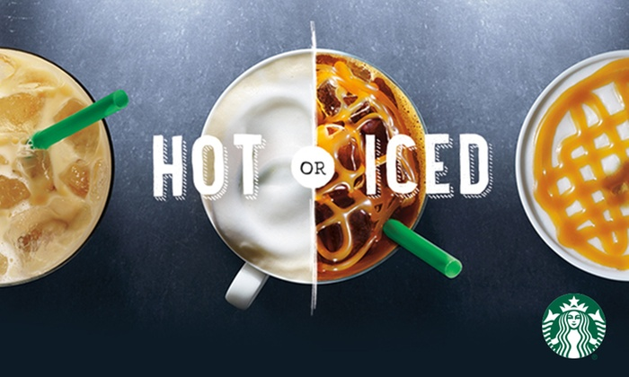 Groupon: $5 for a $10 Starbucks eGift card for select customers
