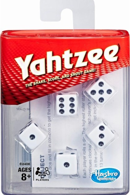 Yahtzee dice game for $5, free shipping