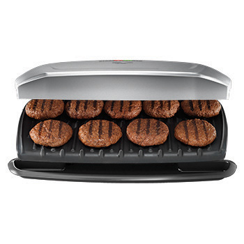 George Foreman 9-serving classic plate grill & panini press for $20