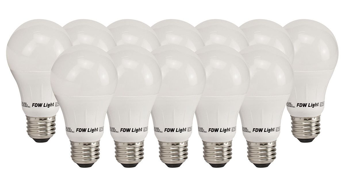 12-count 60 watt A19 LED light bulbs for $22, free shipping