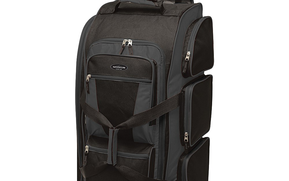 Travelers Club 30″ upright rolling duffel luggage for $28, free shipping