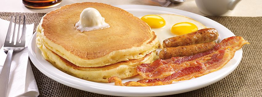 Ends soon! Free Grand Slam breakfast at Denny's after online purchase