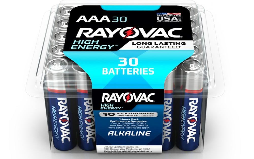 30-pack Rayovac AAA batteries for $5.48