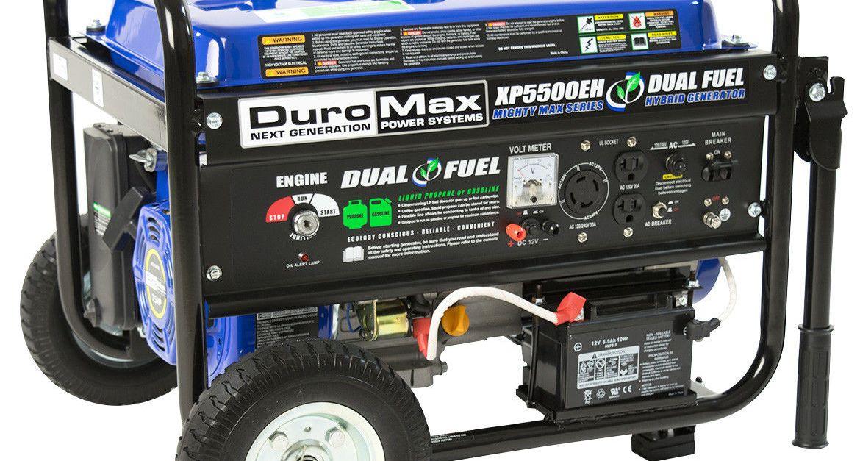 Duromax 5,500-watt 7.5 HP portable electric start gas propane generator for $400