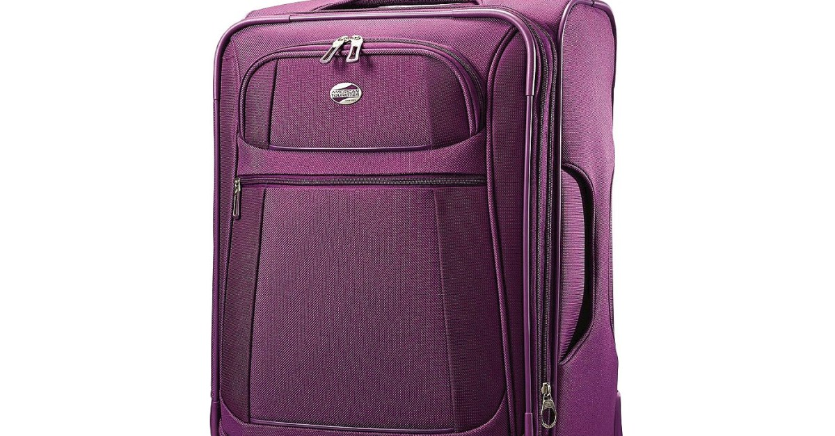 American Tourister softside spinner carry-on suitcase for $30, free shipping