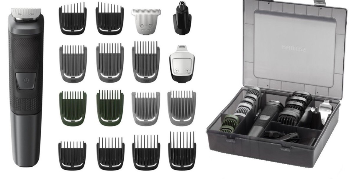 Today only: Philips Norelco multigroom trimmer 5000 with storage case for $30