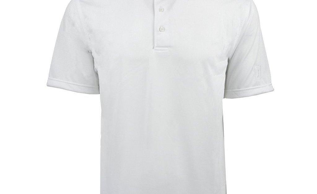 PGA Tour men's Airflux solid patterned polo for $15, free shipping