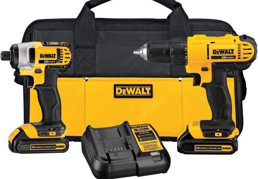 Today only: Dewalt 20v max cordless drill impact driver tool combo kit for $125