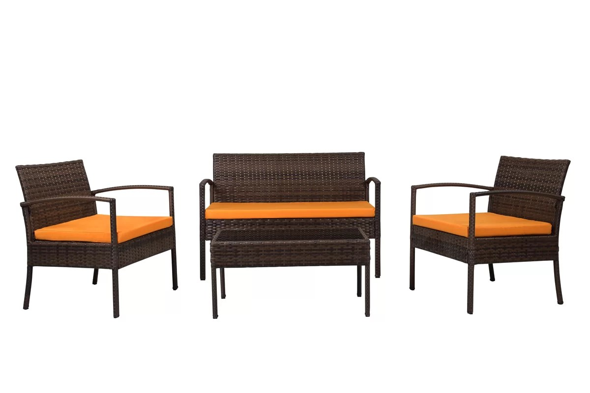 Jefferies 4-piece wicker seating group for $154