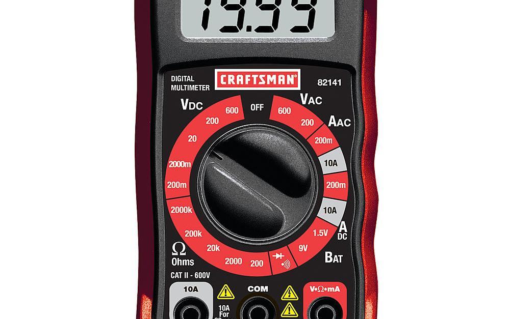 Craftsman 8-function digital multimeter for $9