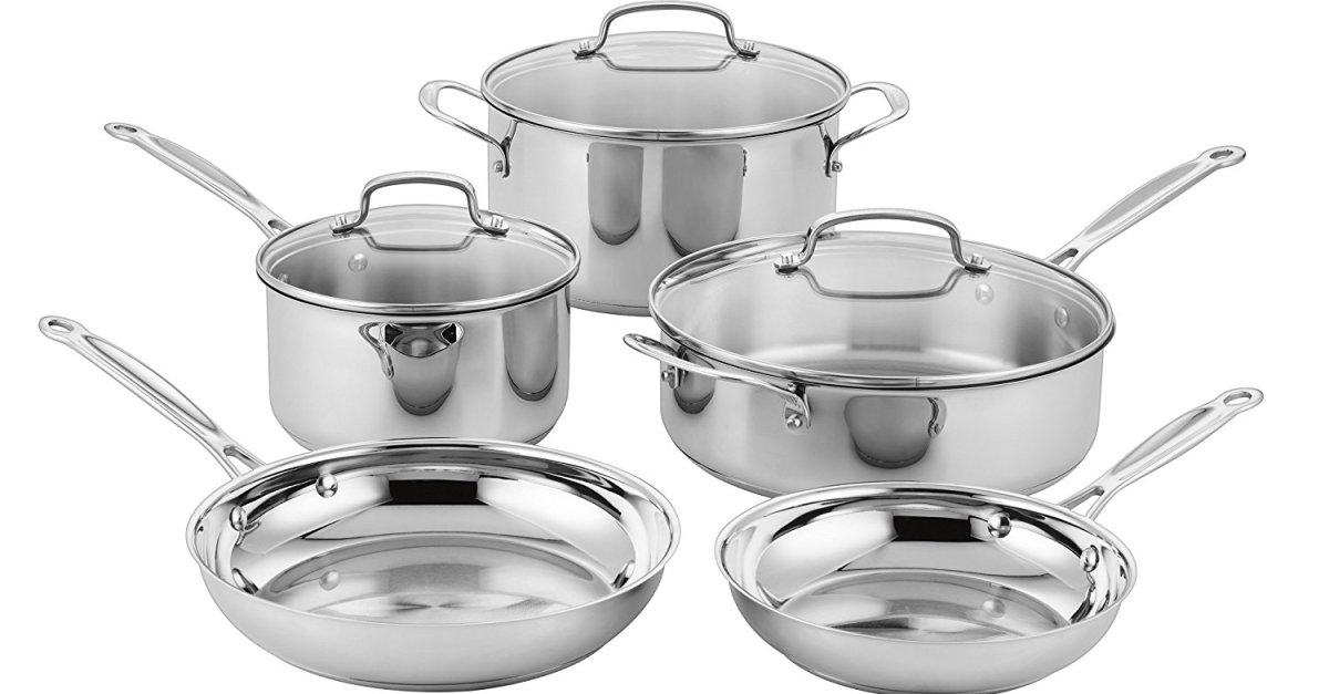 Today only: Cuisinart Classic 8-piece stainless steel cookware set for $70