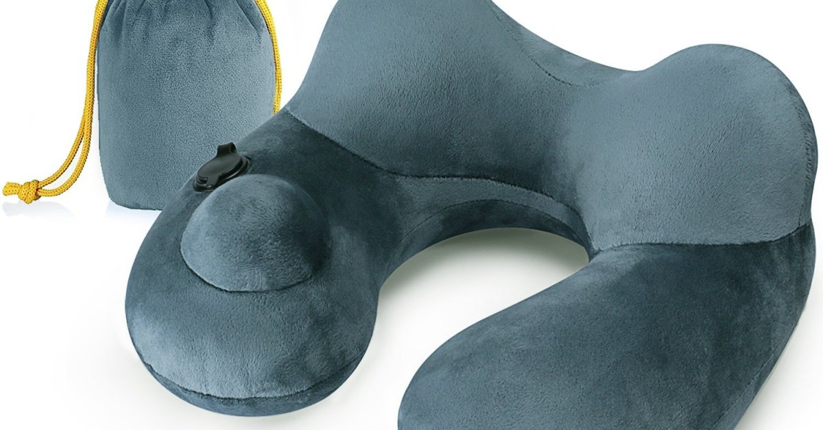 Sepoveda inflatable travel pillow for $10 with code