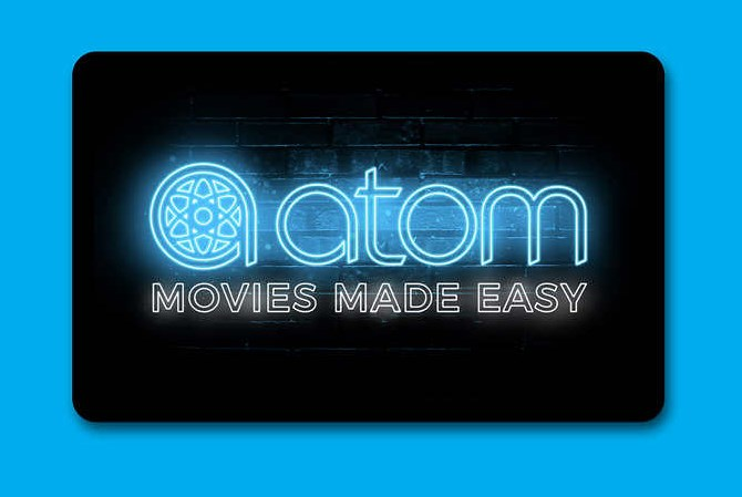 Get a gift card worth up to $10 when you buy a Atom Tickets gift card