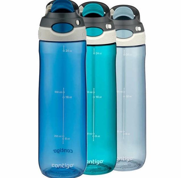 Costco members: 3-pack 24oz Contigo Tritan autospout water bottles for $17