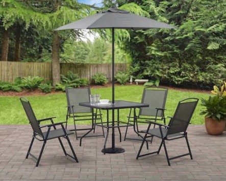 Mainstays Albany Lane 6-piece folding dining set for $79