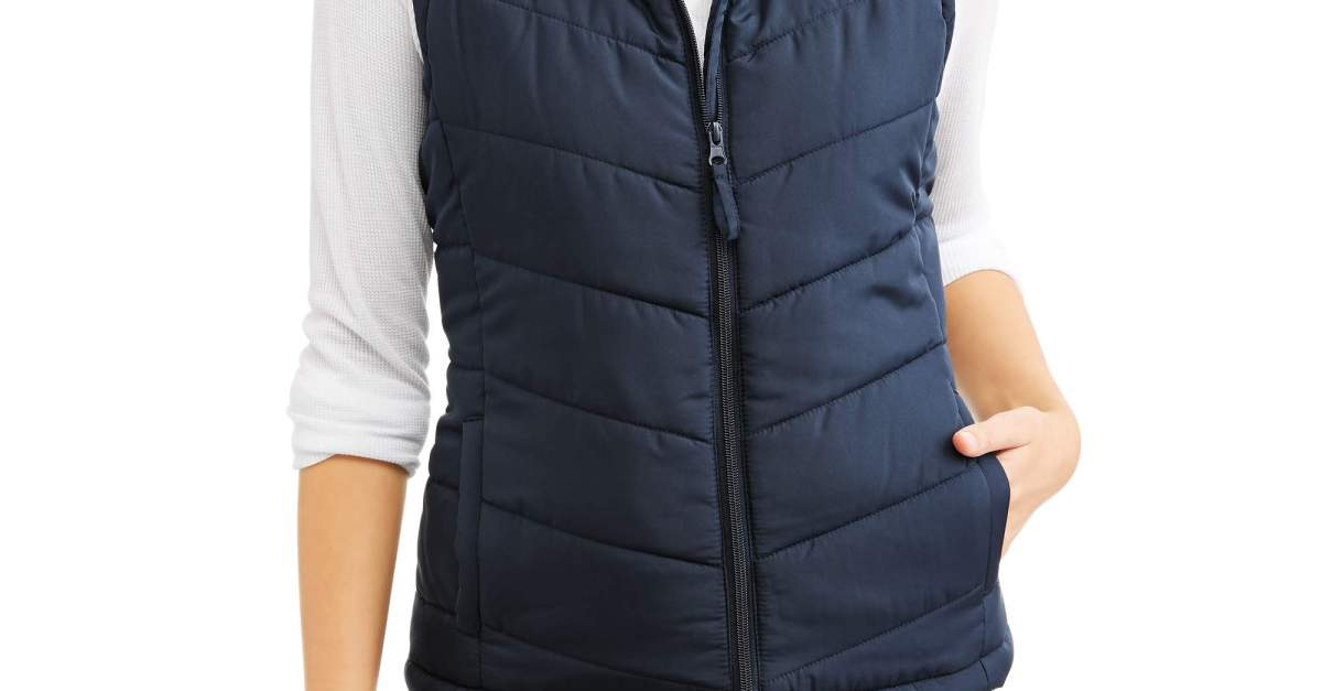 Jason Maxwell women's classic puffer vest for $7.50