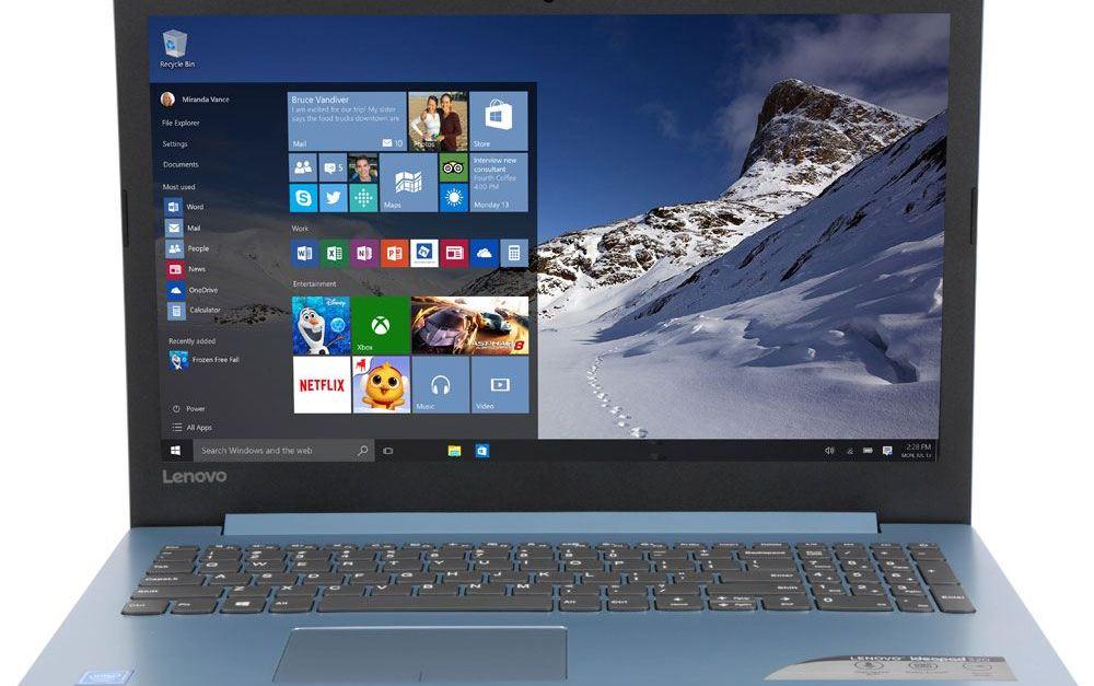 Lenovo IdeaPad 320 15.6″ 1TB HD 4GB RAM laptop computer for $200