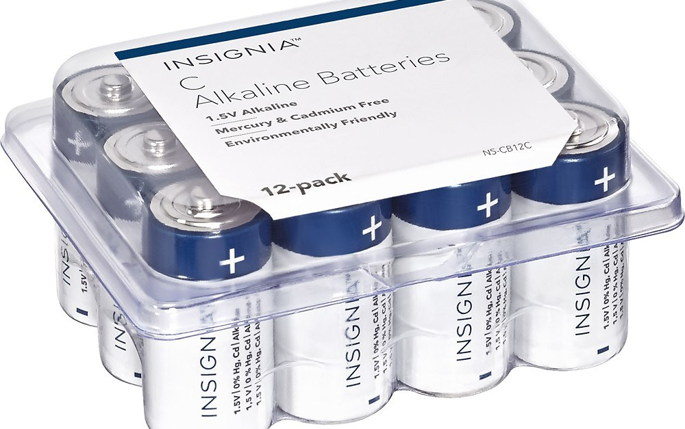 12-pack Insignia C batteries for $9