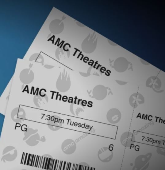 photo relating to Amc Printable Tickets titled Video clip tickets are basically $5 upon Tuesdays for AMC Stubs individuals
