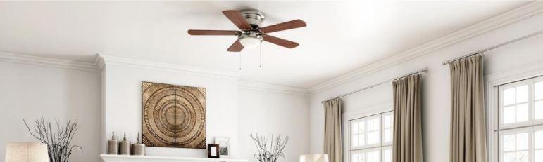 Ends soon! Hampton Bay 52″ Hugger ceiling fan for $40