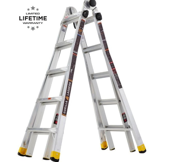 Gorilla 22 ft. MPX aluminum telescoping multi-position ladder for $129