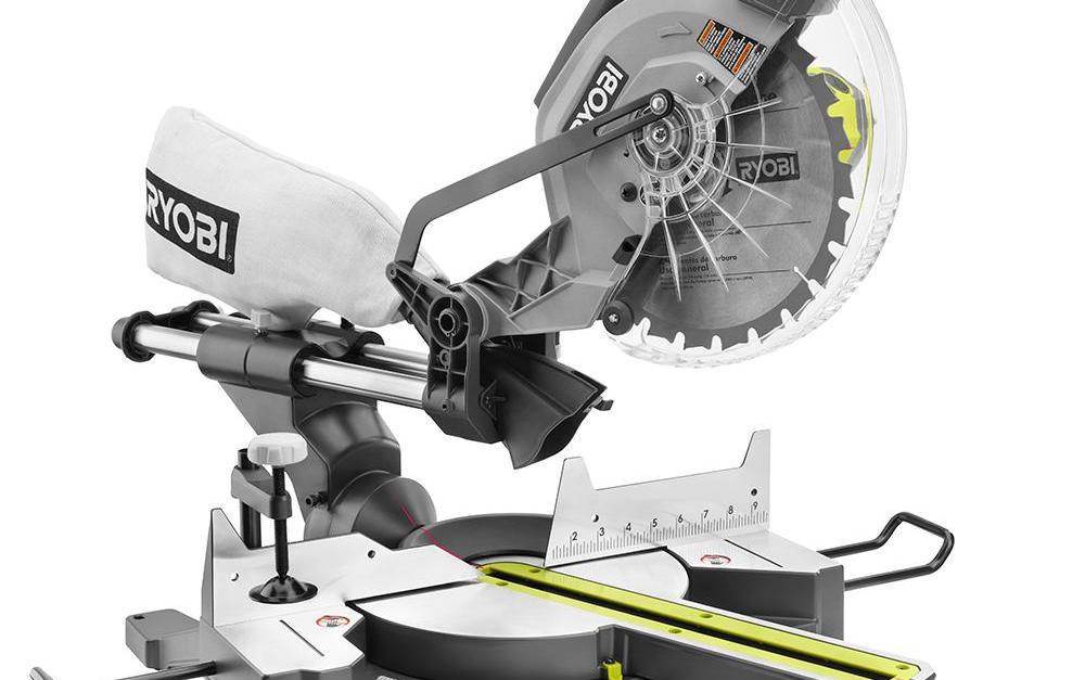 Ryobi 15-amp 10″ sliding miter saw with laser for $129