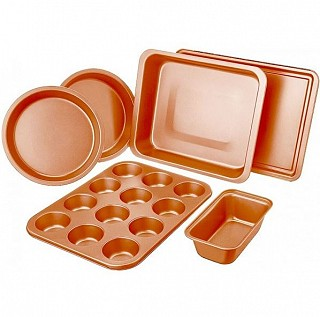 6-piece non-stick copper bakeware set for $20, free shipping